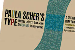 ADCMW Paula Scher workshop poster