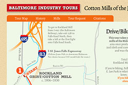 Baltimore Industry Tours, an historical tour of the Jones Falls valley