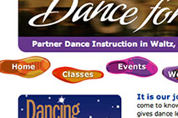 Web design and maintenance for dance instruction
