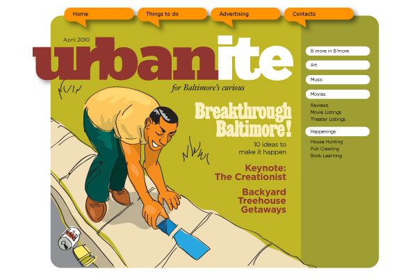 Urbanite website concept